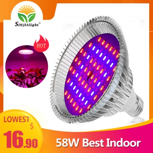 58W 58leds Transparent Cover Indoor Grow Light - SINJIAlight
