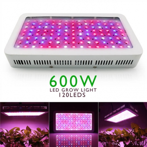 600W LED Grow Light Lamp Panel Hydroponic Plant Growing Full Spectrum For Vegs Flowers Indoor Plants Seeds