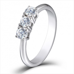 DOVEGGS 14K WHITE GOLD 0.2CT MOISSANITE ENGAGEMENT RINGS