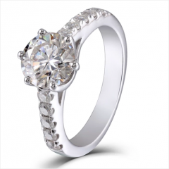 DOVEGGS 10K WHITE GOLD 1.5CT MOISSANITE ENGAGEMENT RINGS