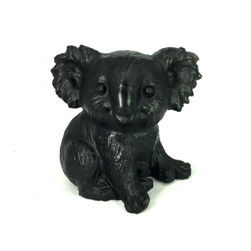 "1.8"" Black Onyx Agate Carved Koala Figurine Carving Koala Sculpture collection"