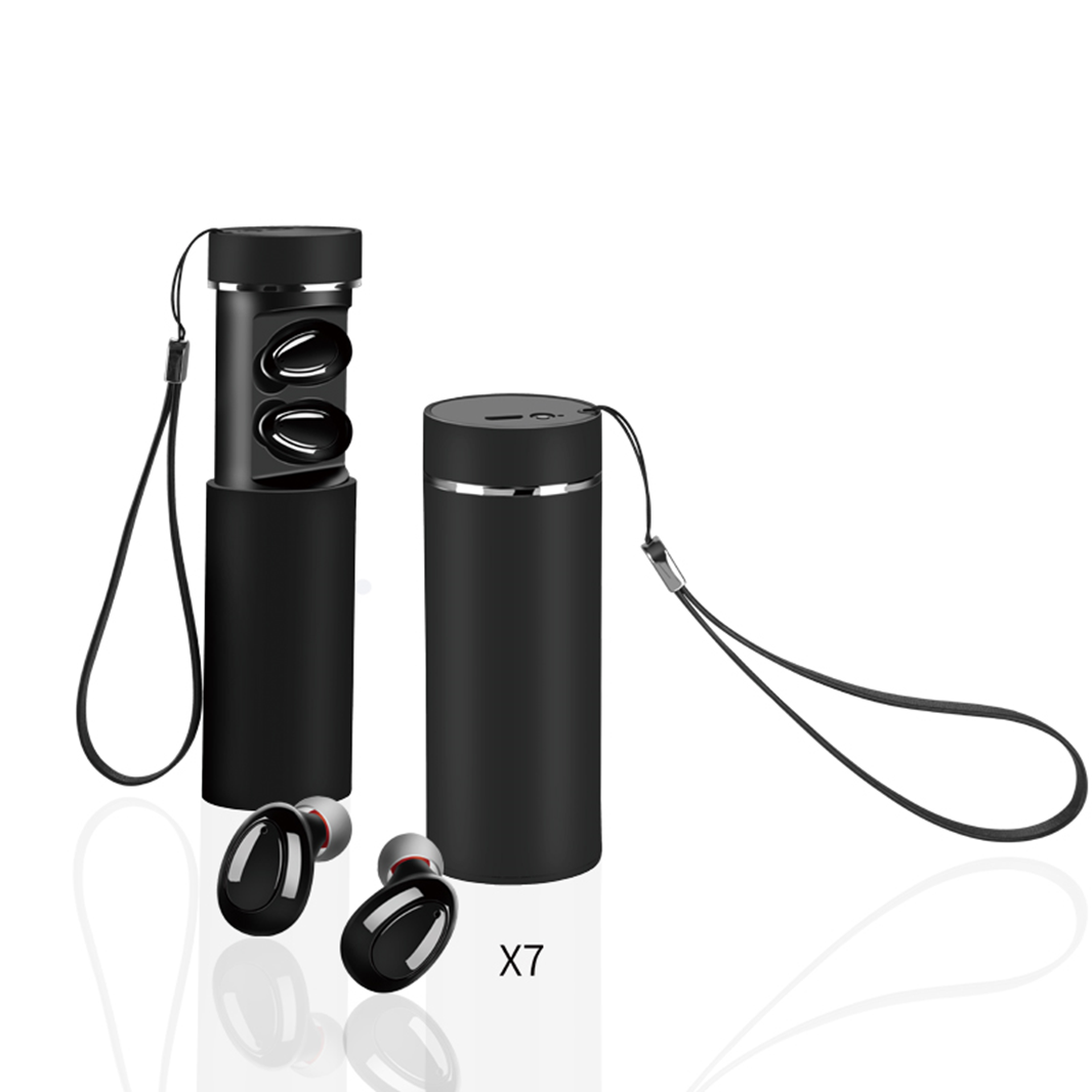 MKJ-X7 True Wireless Bluetooth Earphone Headset Exporter Small High Quality Sport Stereo In-Ear Double Earbuds for Cell phone and Tablets