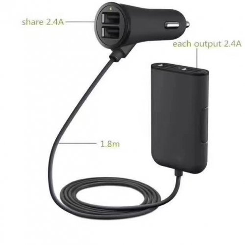 C80 Smart 4USB Car Charger USB Power Adapter For Smartphone and Tablets