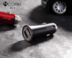 Manufacturer COKIKE CC-2 Smart Dual USB Car Charger Power Adapter With Charging Cable For Smartphone and Tablets