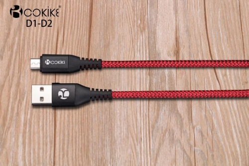 Cable Factory COKIKE-D1/D1-2 Charging Data Communication Cable Micro USB transmission Line For Smartphone and Tablets