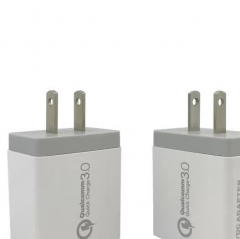 HJ-006 QC3.0 Smart Dual USB Fast Travel Charger Supplier Power Adapter For Handset and Tablets