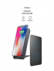 Zikko-AS100 AirStation QI Wireless Charger Smart Fast Travel Quick USB Power Adapter for Cell phone