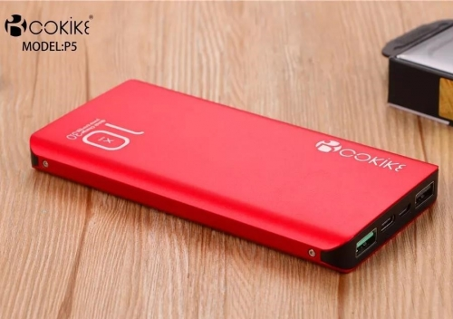 COKIKE-P5 10000mAh Power Bank Portable Chargers Wholesaler Emergency Charger for Handphone and Tablets