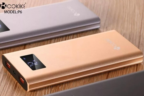 COKIKE-P6 10000mAh Power Bank Portable Battery Chargers Factory Emergency Charger for Mobile phone and Tablets