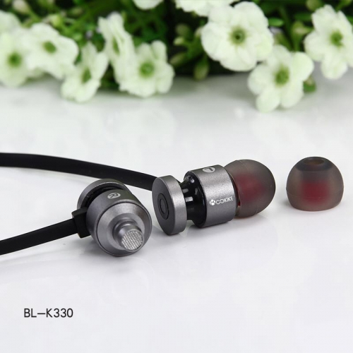 BL-K330 Bluetooth earphone Wireless Headset Exporters Metal Short Wired Bluetooth Sports Small In-Ear Stereo for Mobile Phone and Tablets
