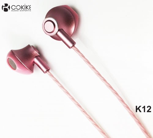 K12 Wired earphones Metal Headphones Exporters Stereo earpiece For Cell phone and Tablets