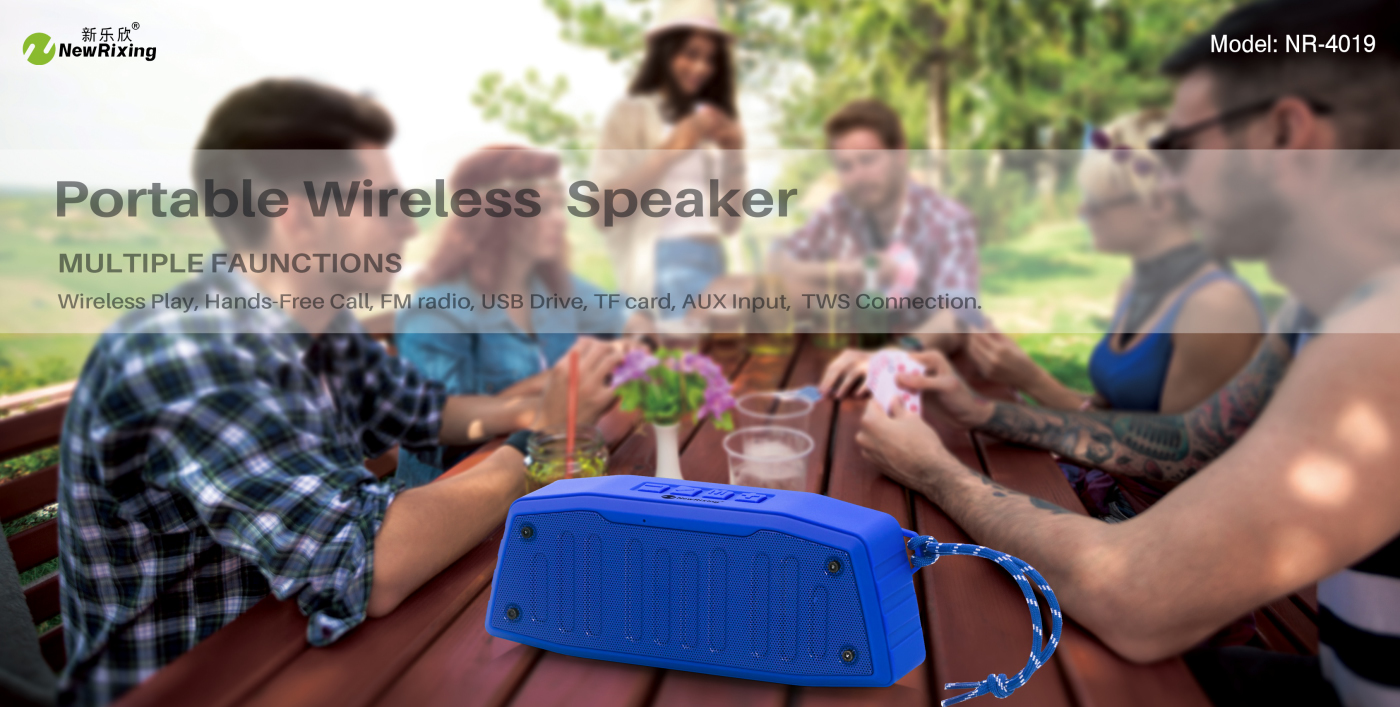 NewRixing NR-4019 Outdoor Wireless Speakers