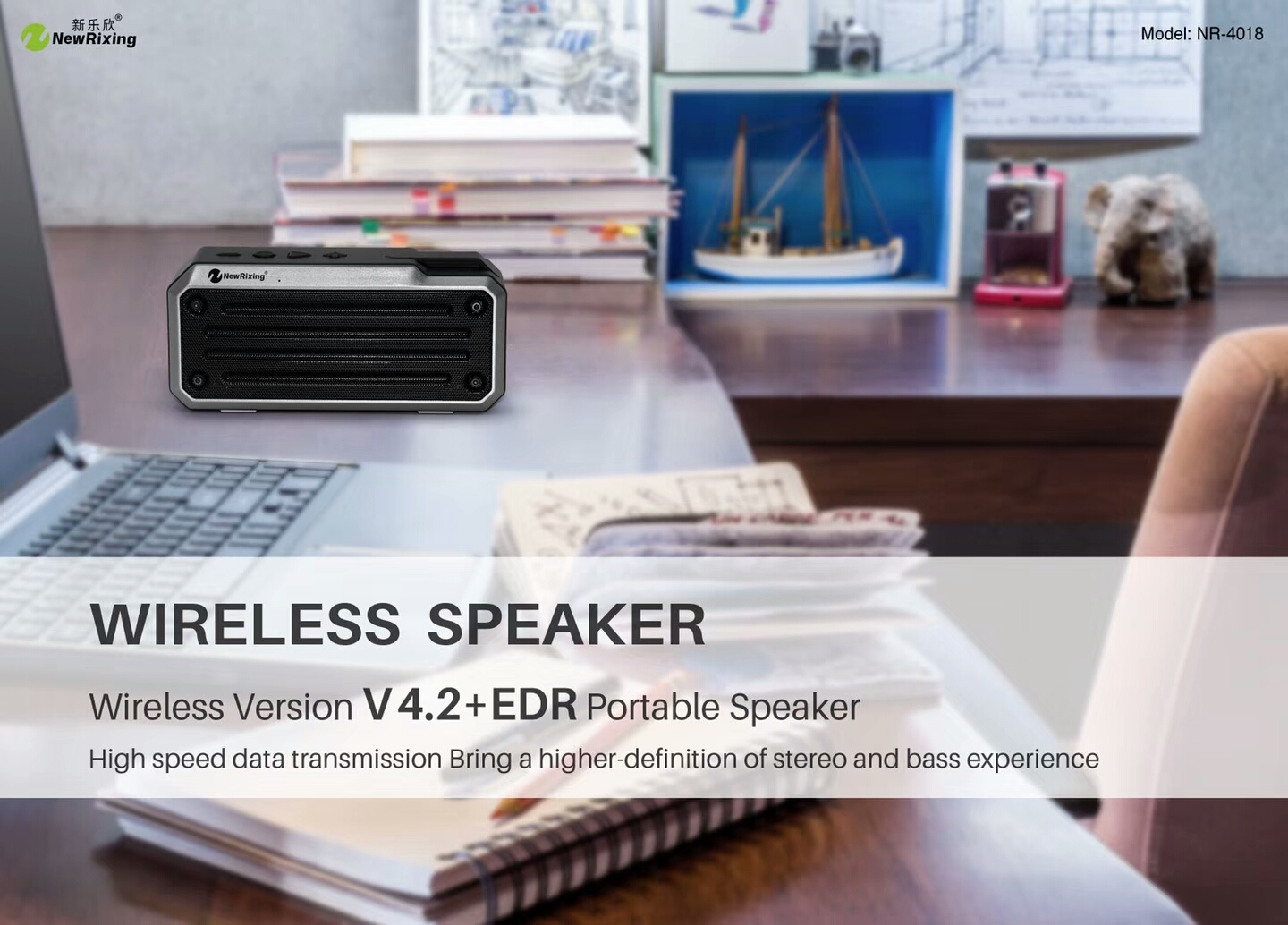 NewRixing NR-4018 Bluetooth Speaker