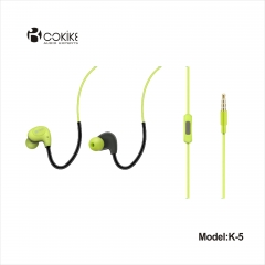 K5 noise cancelling earphones Provider radio headphones Heavy bass Wired In-Ear Sports Stereo headset