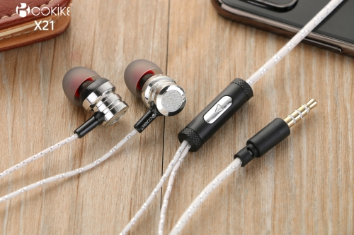 X21 Wired Headphone Manufacture in ear Headset Stereo earphone For Smartphone and Tablets