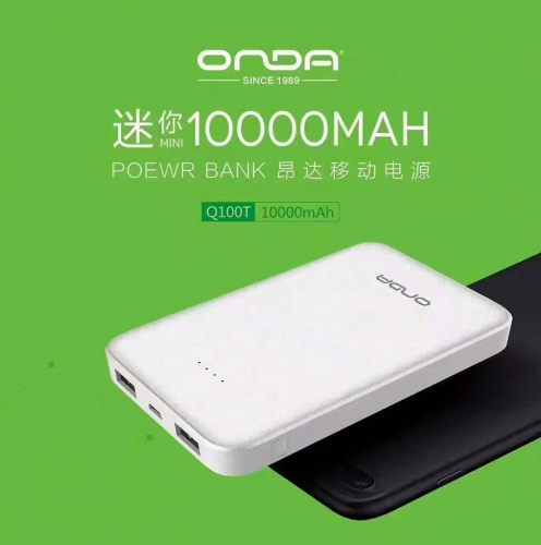 Q100T 10000mAh Portable Chargers Factory battery operated cell phone charger small and exquisite