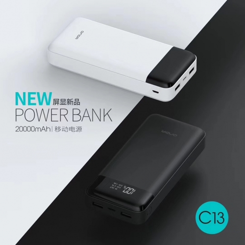 C13 20000mAh Portable Battery Charger Supplier Mobile Instant Charger Percentage power display function