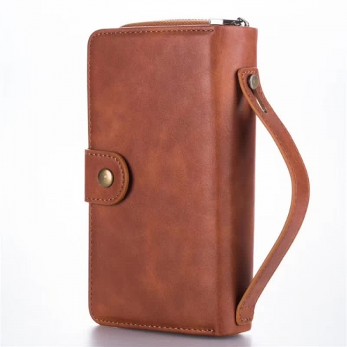 Handset Folding Wallet case Folio Protective Leather Case Supplier multi-function Protective Case