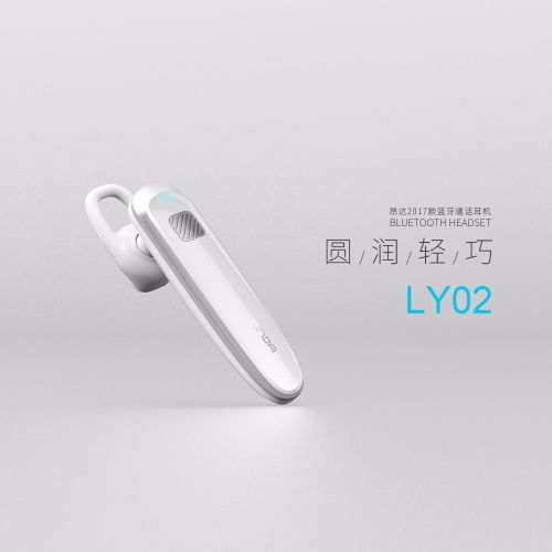 LY02 wireless on ear earpiece bluetooth on ear headphones Small High Quality Stereo Single Earbud for Cellphone and Tablets