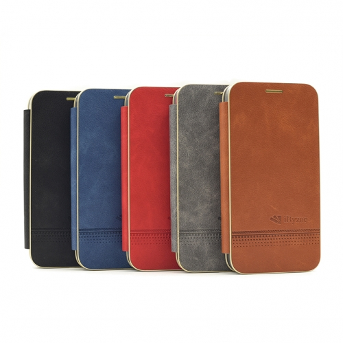 M15-016 Magnetic absorption Folio Case Manufacturer Leather Flip Credit Card Case Scrape prevention Shockproof