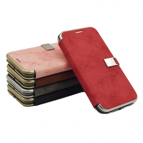 M15-023 Smartphone Folding Leather Case Manufacturer Leather Flip Wallet Case Scrape prevention Shockproof