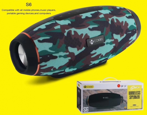 S6 Wireless Bluetooth Speaker Supplier Loud Speakers For Handset, Tablets, Computer, Laptop, Mp3, Mp4…….