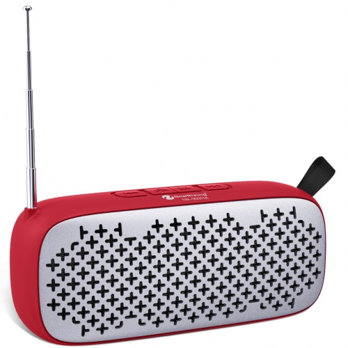 NR-909FM Multimedia Speakers Small Mobile Speaker Wholesaler Rubber oil surface nice hand-feeling