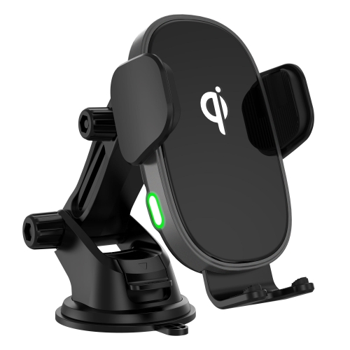 CC-58 15W Qi Wireless Car Fast Charging Mount Supplier wireless charger pad for car Built-in stepper motor For Cell phone