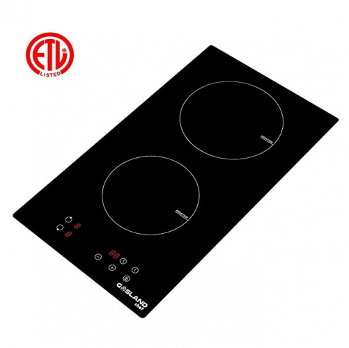 "Gasland chef IH30BF Induction Cooktop 12"" Built-In Domino 2 Burners Electric Stove Top, Black"