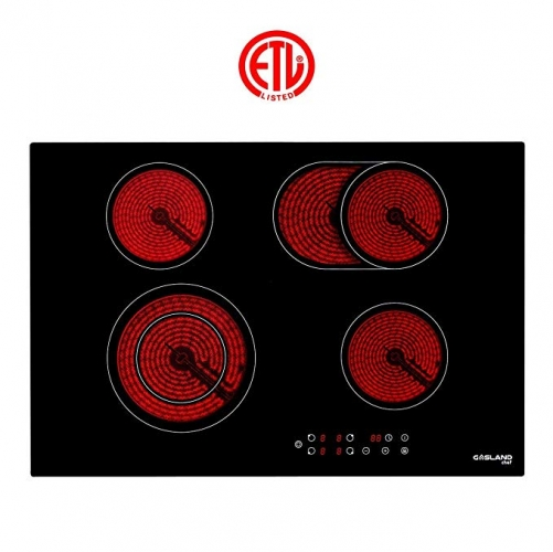 "Gasland chef CH77BF Built-in Electric Radiant Cooktop 30"" Smoothtop Cooktop with 4 Burners, Black"