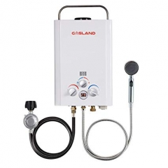 Gasland 1.58GPM 6L Outdoor Portable Propane Gas Tankless Water Heater
