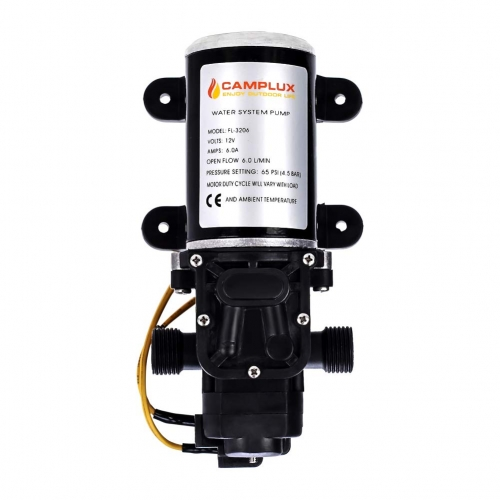Camplux 12V Water Pump 65PSI DC 1.6GPM 6LPM Diaphragm for Caravan RV Marine Fishing Boat