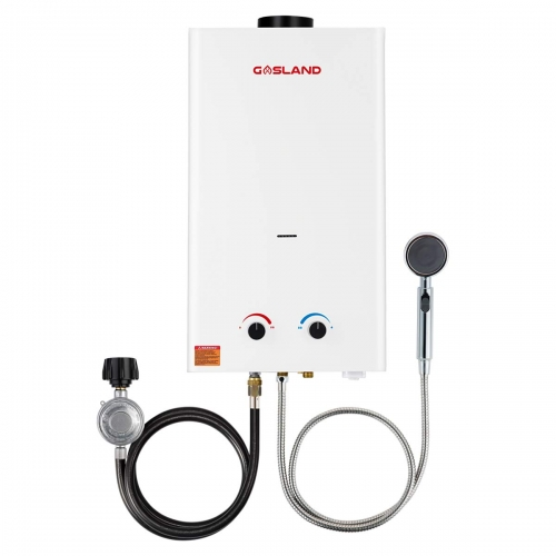 Gasland BS318 3.18GPM 12L Outdoor Portable Gas Water Heater, Instant Propane Water Heater, Overheating Protection, Easy to Install, Use for RV Cabin
