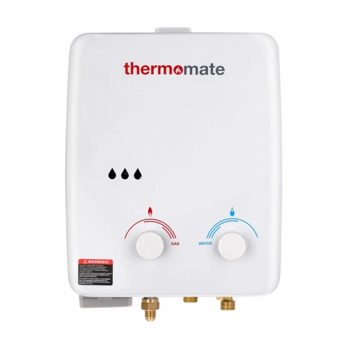 thermomate AZ132 1.32 GPM Propane Tankless Water Heater for Outdoor & Indoor, Low Pressure Startup, White