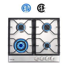"Gasland chef GH60SF Gas Cooktop 24"" Built-in Stove Top with 4 Sealed Burners LPG/NG, Stainless Steel"