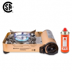Camplux JK-7700 Portable Gas Stove, 11,500 BTU Aluminum Alloy Butane Stove, Single Burner Outdoor Camping Stove with Carrying Case, CSA Listed