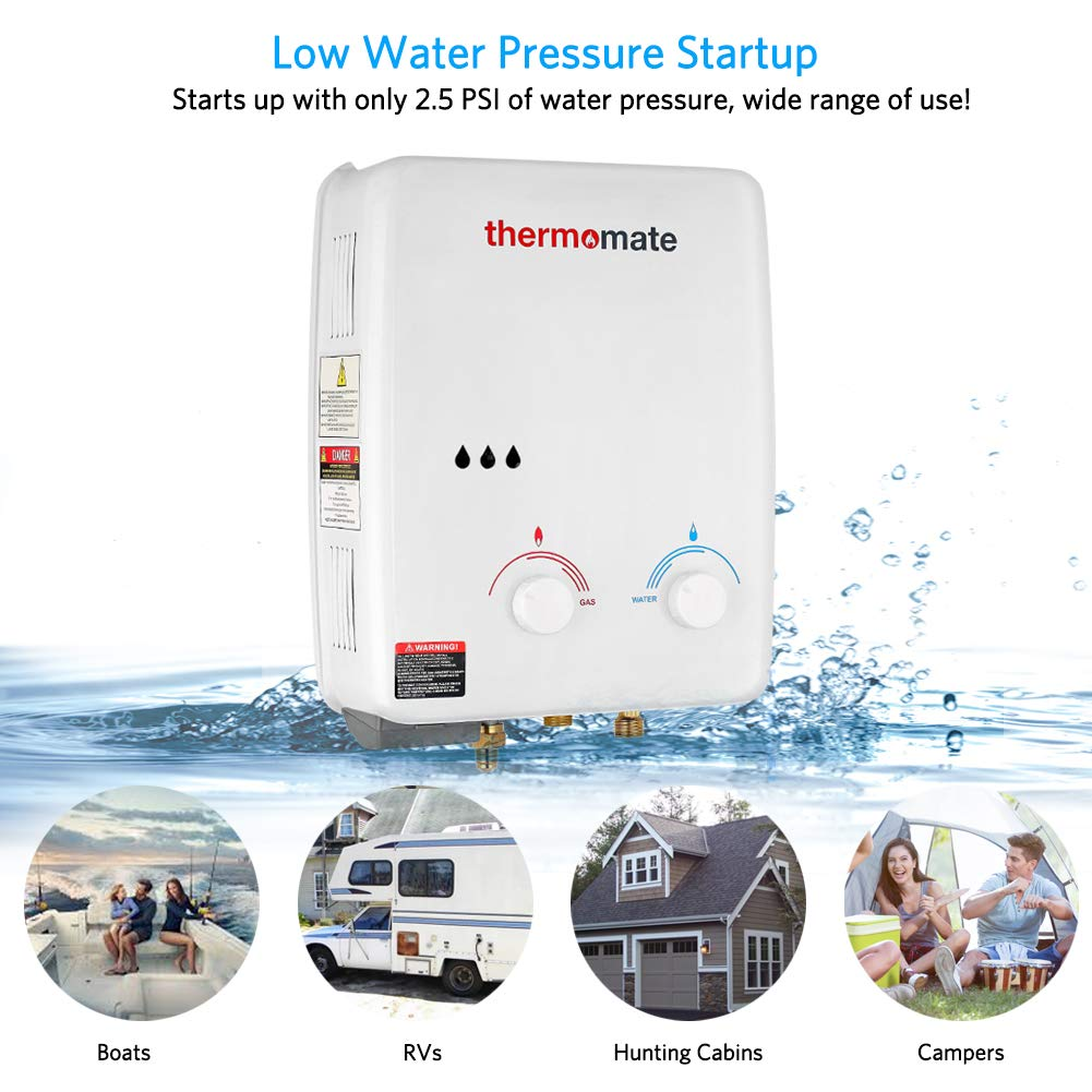Thermomate Az132 1 32 Gpm Propane Tankless Water Heater
