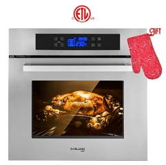 "Gasland Chef ES611TS 24"" Built-in Stainless Steel Frame With American Black Glass Electric Wall Oven"