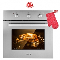 "Gasland Chef ES606MS 24"" Built-in Stainless Steel Electric Wall Oven With Cooling Down Fan"