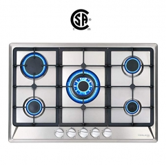"Gasland chef GH77SF Gas Cooktop 30"" Built-in Stove Top with 5 Sealed Burners LPG/NG, Stainless Steel"