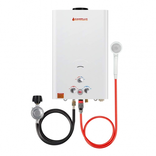 Camplux 16L 4.22 GPM Digital Display Outdoor Propane Tankless Water Heater