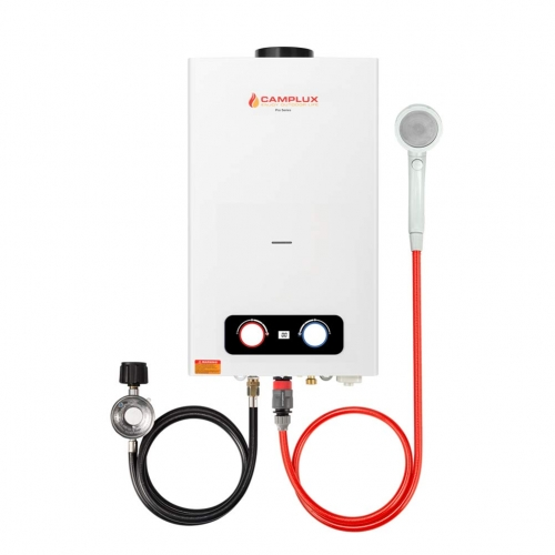 Camplux Pro BD264 2.64GPM Outdoor Propane Tankless Gas Water Heater, White