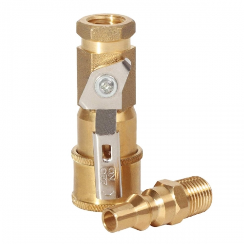 "Gasland Propane Quick Disconnect Fittings, 1/4"" RV Propane Quick Connect Adapter for Propane Hose, Propane or Natural Gas 1/4"" Quick Connect"