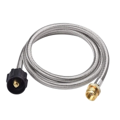 Gasland Propane Hose, 5ft Stainless Steel RV Propane Hose, 1lb to 20lb Propane Tank Adapter Hose, CSA Certified 1lb Propane Tank Adapter