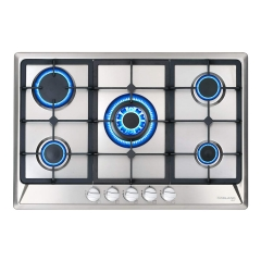 "Gasland Chef GH77SF Gas Cooktop, 30"" Built-in Stove Top with 5 Sealed Burners LPG/NG, Stainless Steel"
