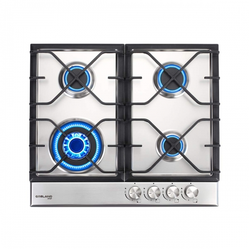 "Gasland Chef GH60SF Gas Cooktop, 24"" Built-in Stove Top with 4 Sealed Burners LPG/NG, Stainless Steel"