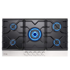Gasland Chef GH90BF 36'' Built-in Gas Stove Top, Tempered Glass LPG Natural Gas Cooktop, Gas Stove Top with 5 Sealed Burners, ETL Safety Certified