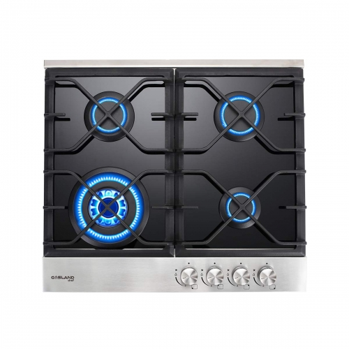 Gasland Chef GH60BF 24'' Built-in Gas Stove Top, Tempered Glass LPG Natural Gas Cooktop, Gas Stove Top with 4 Sealed Burners, ETL Safety Certified