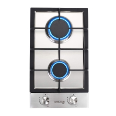 "Gasland chef GH30SF Gas Cooktop 12"" Built-in Stove Top with 2 Sealed Burners LPG/NG, Stainless Steel"