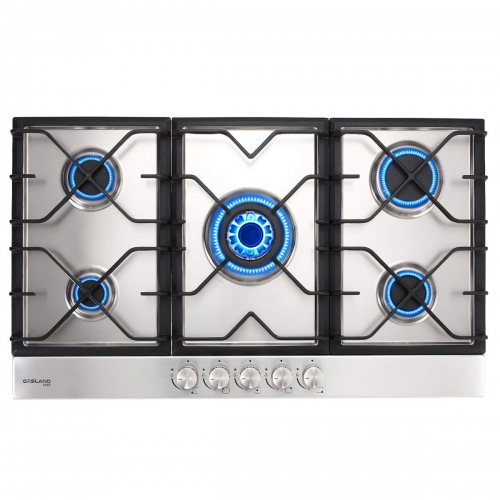 Gasland Chef GH90SF 36'' Built-in Gas Stove Top, Stainless Steel LPG Natural Gas Cooktop, Gas Stove Top with 5 Sealed Burners, ETL Safety Certified